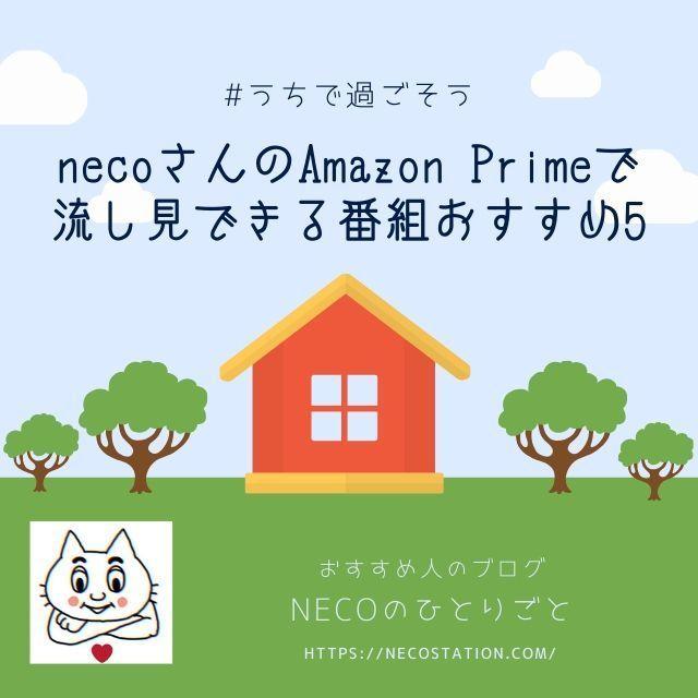 【うちで過ごそう応援企画】Amazon Primeで流し見できる番組おすすめ5【necoさん編】