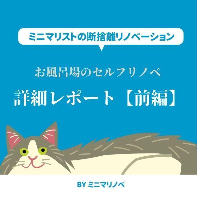 【前編】お風呂場DIY 賃貸マンションのバスルームセルフリノベーション詳細