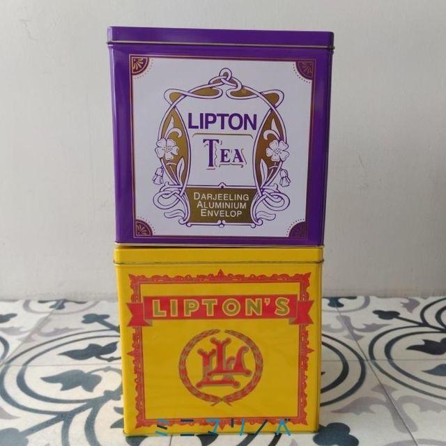 リプトンの紅茶缶2017年|コストコ限定デザイン特大サイズの茶葉保存缶