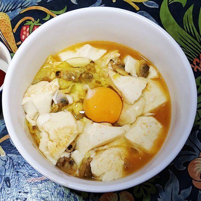 ローソンストア100で作る「スンドゥブ麺」のレシピ