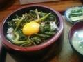 [北海道][食]行者ニンニクのスタミナ丼@阿寒湖