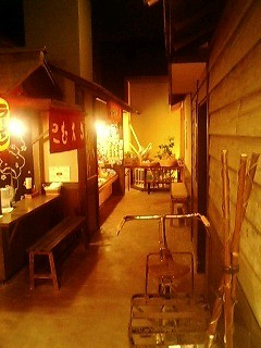 宿の中の路地@川湯温泉