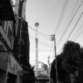 [浅草][鉄塔][モノクロ]