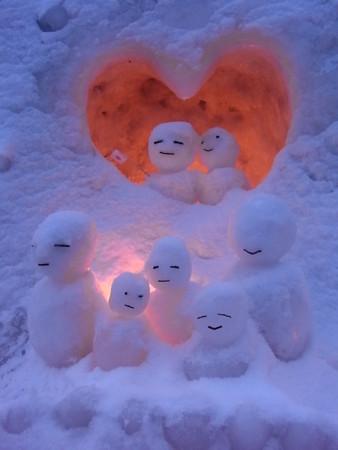 [雪だるま][小樽][小樽雪あかりの路]
