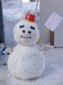 [札幌][雪だるま]