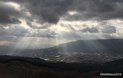 狐の嫁入りが出る熊本県阿蘇郡の景色