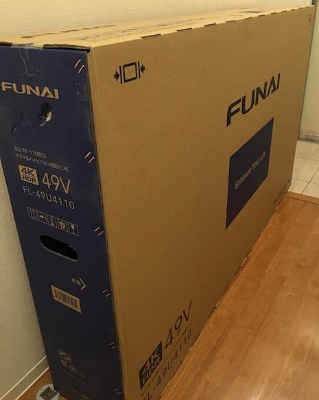 フナイ テレビ FL-49U4110 外箱