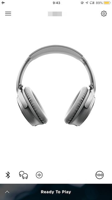 BOSE QuietComfort 35 (QC35) Bose Connect アプリ