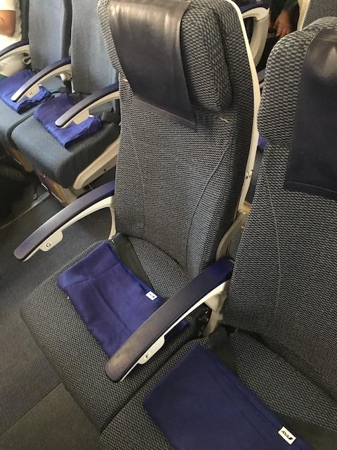 ANA NH870 エコノミークラス シート