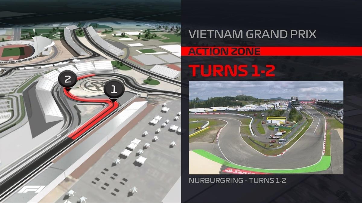 F1 2020 ベトナムグランプリ 1 - 2 コーナー