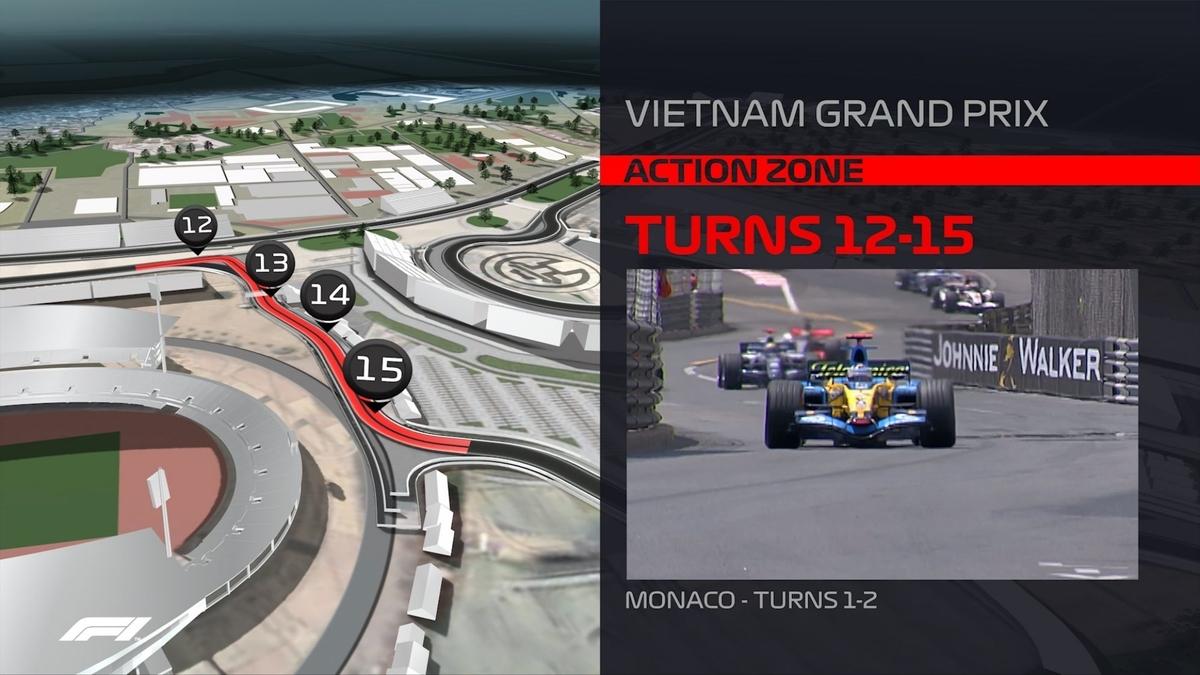 F1 2020 ベトナムグランプリ 12 - 15 コーナー