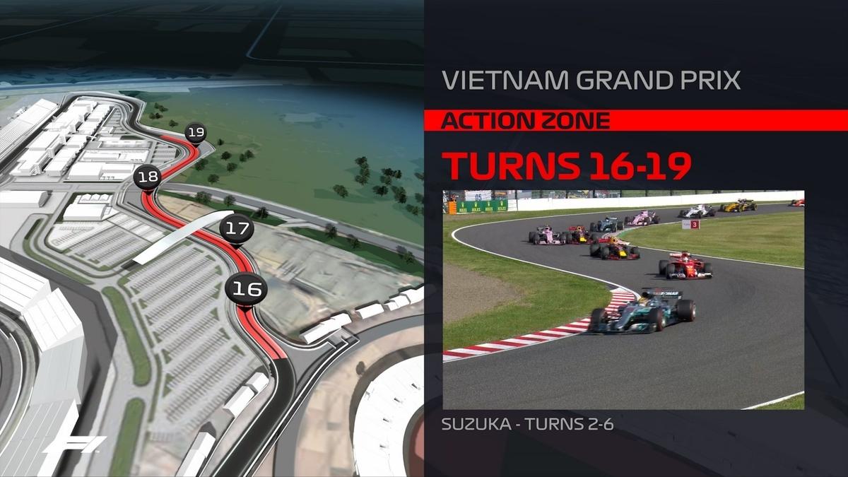 F1 2020 ベトナムグランプリ 16 - 19 コーナー