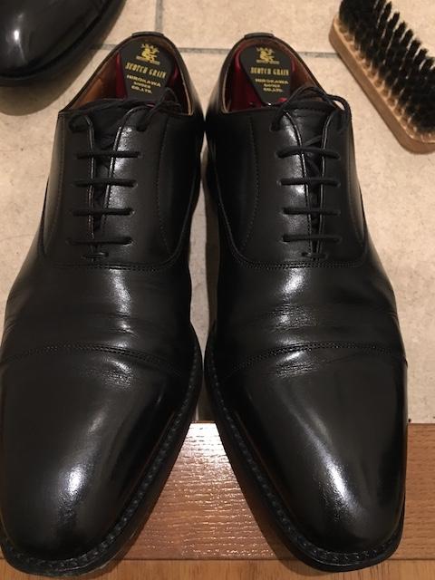 靴磨き 保湿クリーム 磨き後