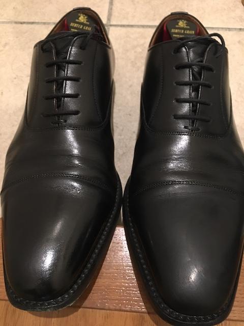 靴磨き ワックス塗布後 1回目