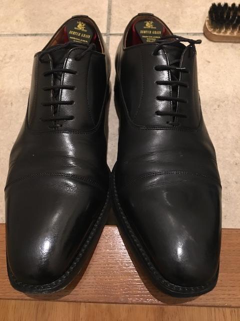 靴磨き ワックス塗布後 (2回目)