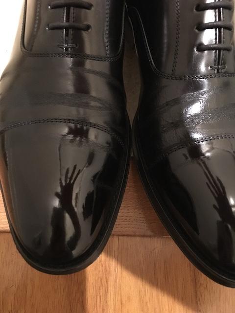 靴磨き シューシャイン 完成 別の靴で
