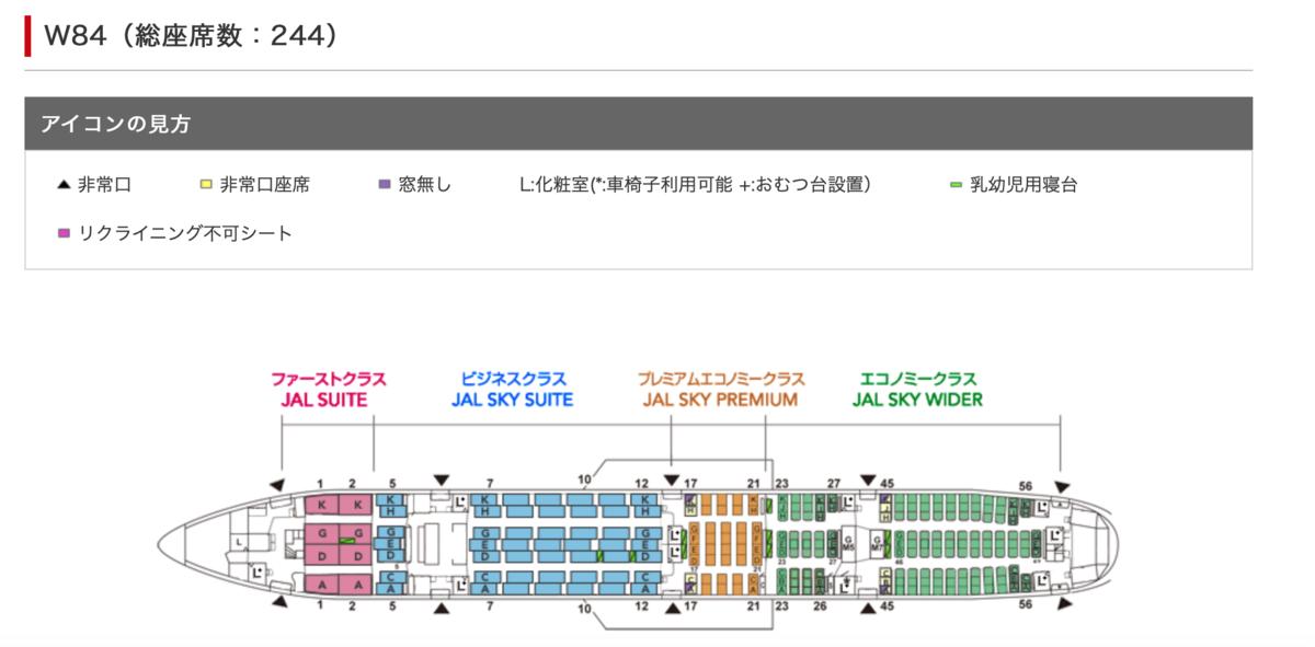 JAL JL10 シートマップ