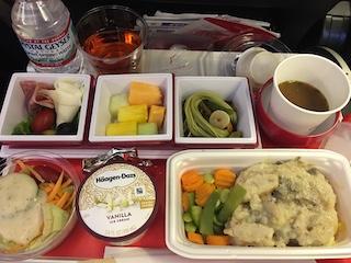 JAL JL9 食事