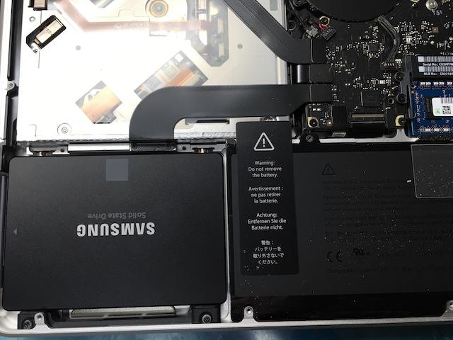 SSDをMacBook Proに収納