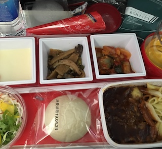 JAL JL741 食事