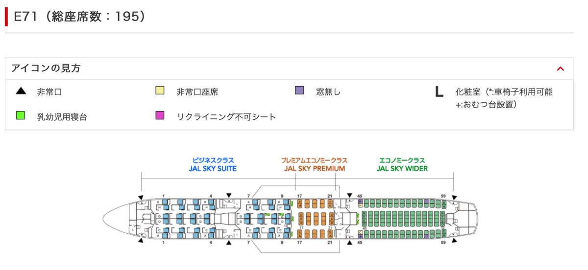 JAL JL407 シートマップ