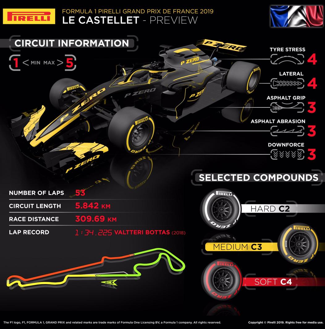 F1 フランスグランプリ 2019 タイヤストレス