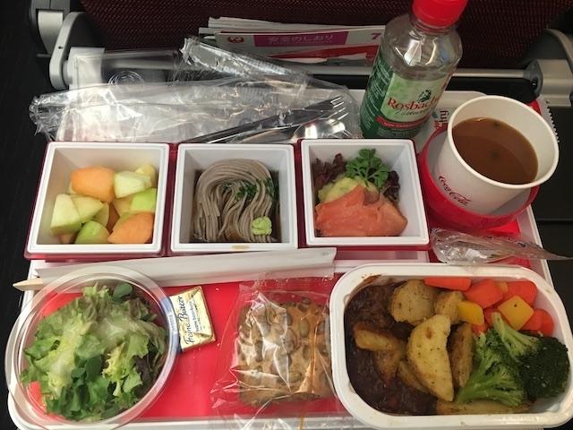 JAL JL408 食事