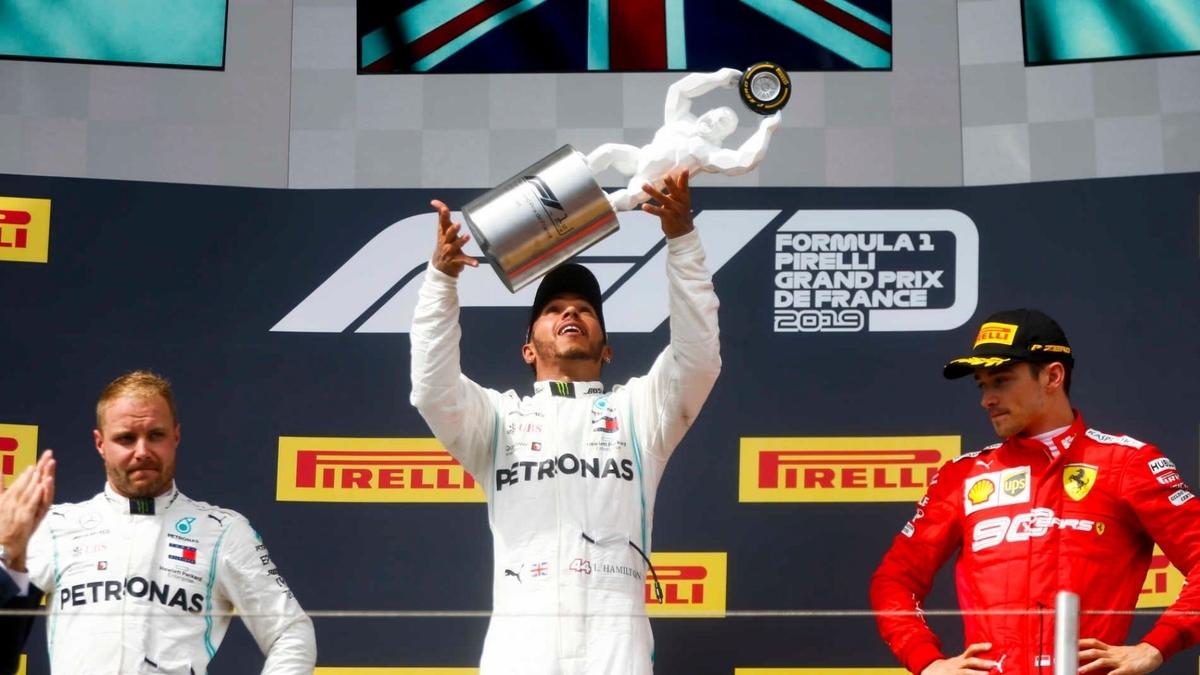 F1 フランスグランプリ 2019 勝者ハミルトン