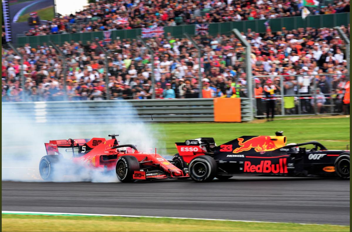 F1 イギリスグランプリ 2019 決勝 ベッテルがフェルスタッペンにクラッシュ