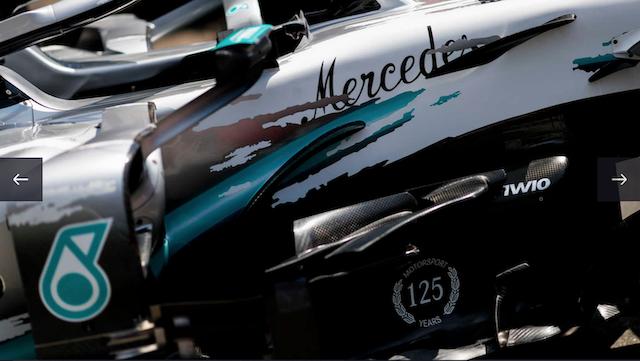 メルセデス W10 ドイツグランプリ 特別カラー