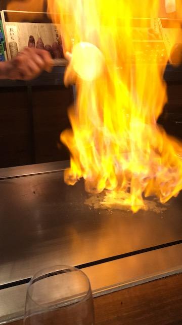 鉄板焼 けやき坂 ランチメニュー 石垣島パイナップルのフランペ ココナッツアイスクリーム