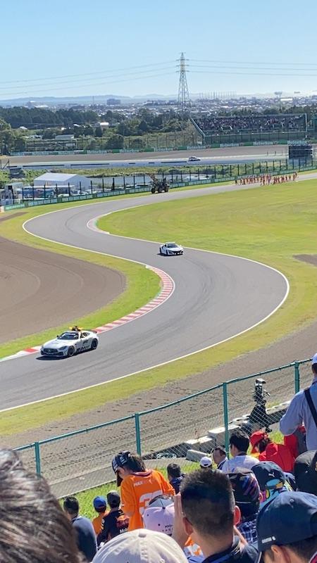 F1 日本グランプリ 2019 予選前のセーフティカー走行