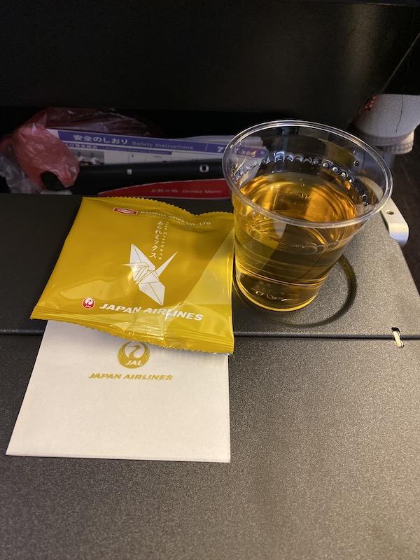 JAL JL010 機内食 ファーストドリンク