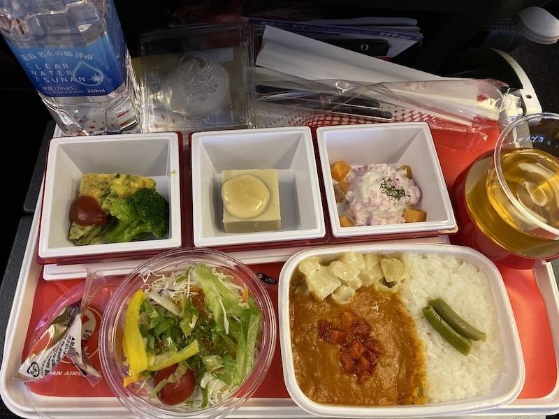 JAL JL010 機内食 メインミール