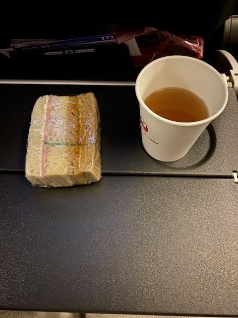 JAL JL009 機内食 夜食