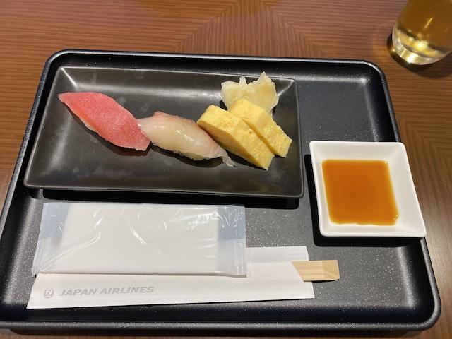 JAL ファーストクラスラウンジ お寿司