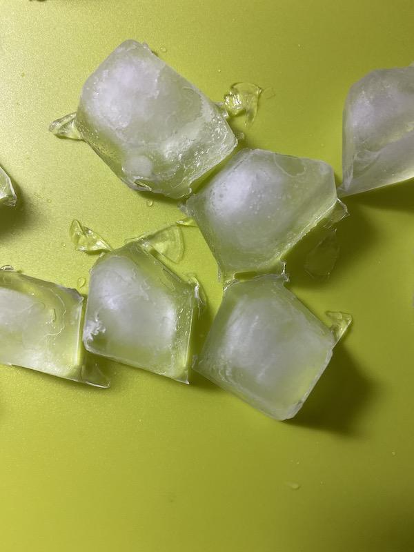 製氷器で作った氷