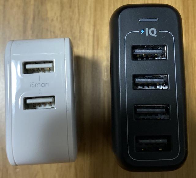 RavpowerとAnker PowerPort 4の比較
