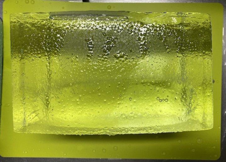 クーラーボックス 氷 取り出し後 横からの図