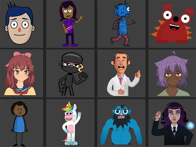 Character Animatorキャラ一覧