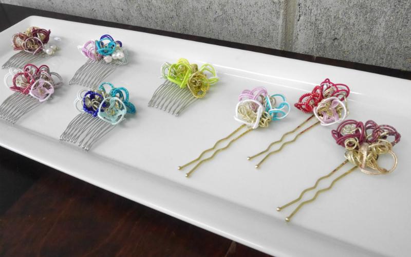 限定品 水引アクセサリー かんざし・髪飾り , 金沢の水引 自遊花