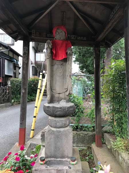 板橋区、西光寺近くのお地蔵さん