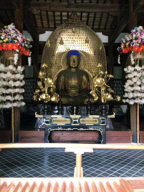 九品仏の阿弥陀如来像