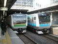 2008年5月8日 東海道線と京浜東北・根岸線のE233系 品川駅にて