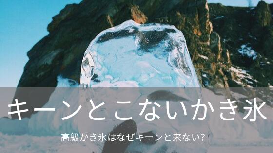 キーンとこないかき氷!?