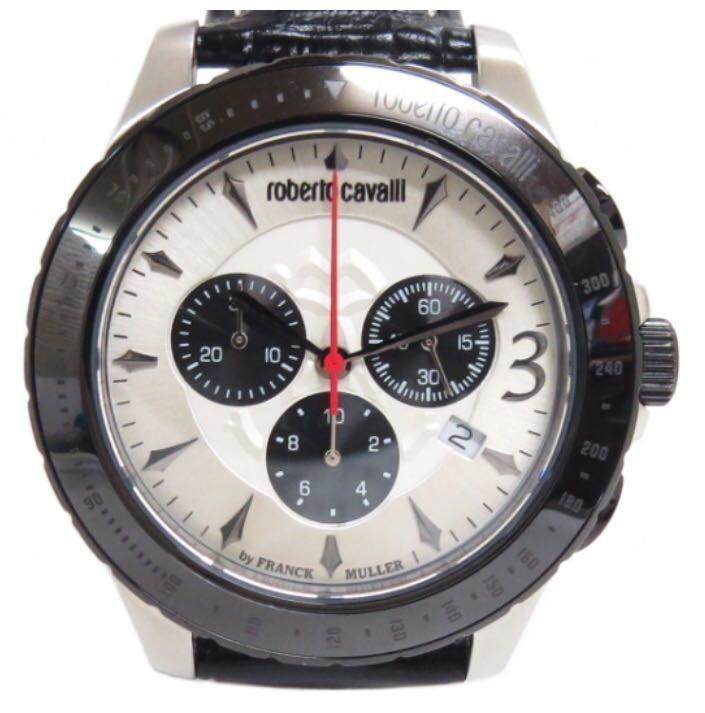 big sale 7570e 8c735 未使用ロベルトカヴァリ byフランクミュラー メンズ腕時計クロノ ...