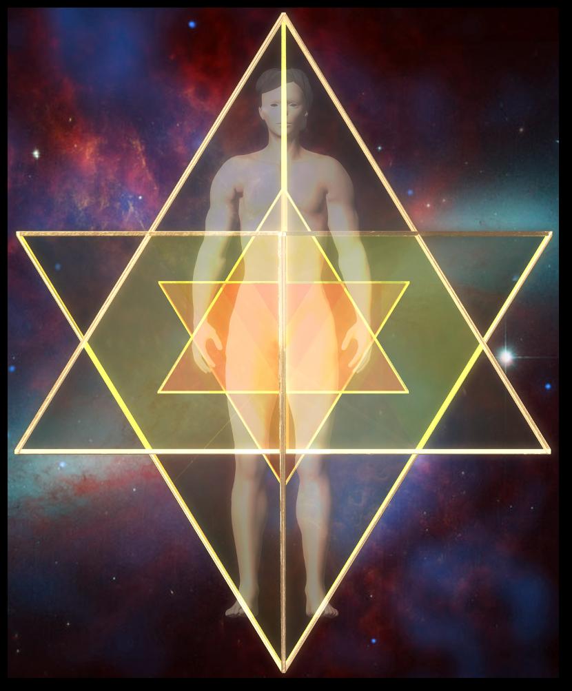 merkaba double-star tetrahedron front