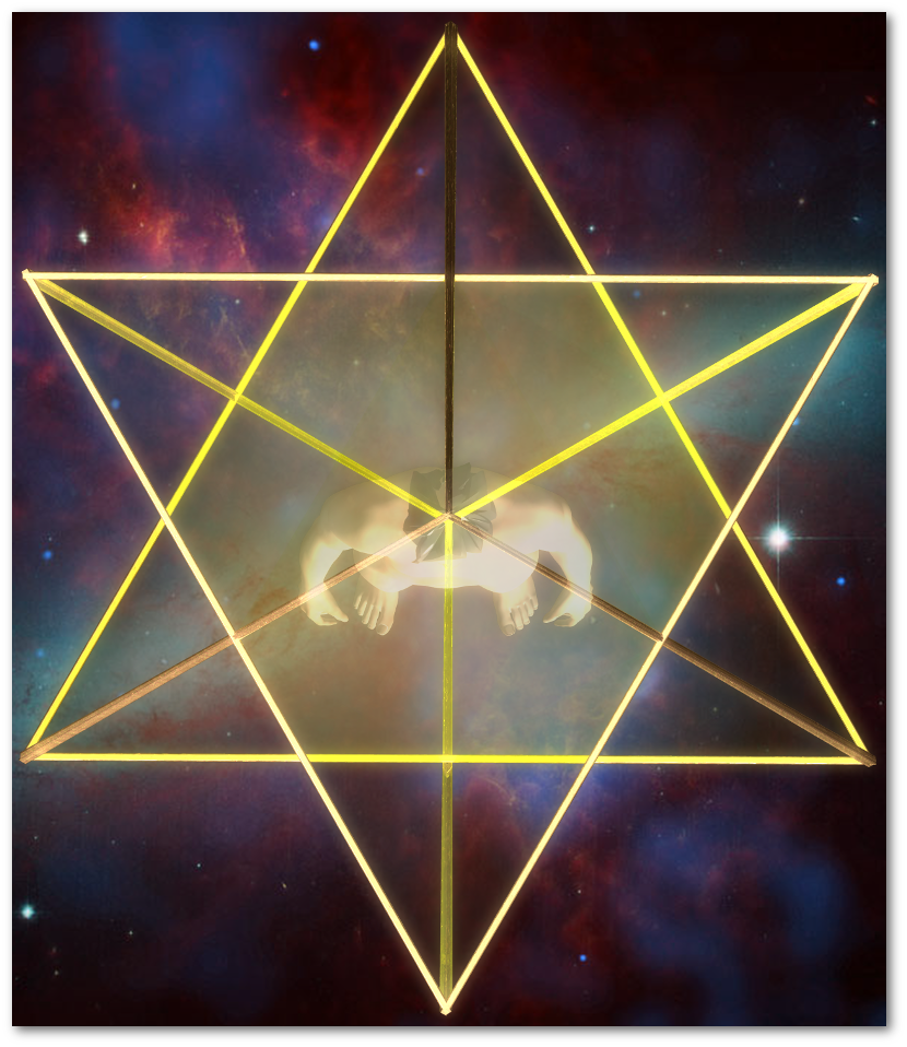 マカバ 3次元 星形二重正四面体-上面図 merkaba star tetrahedron top