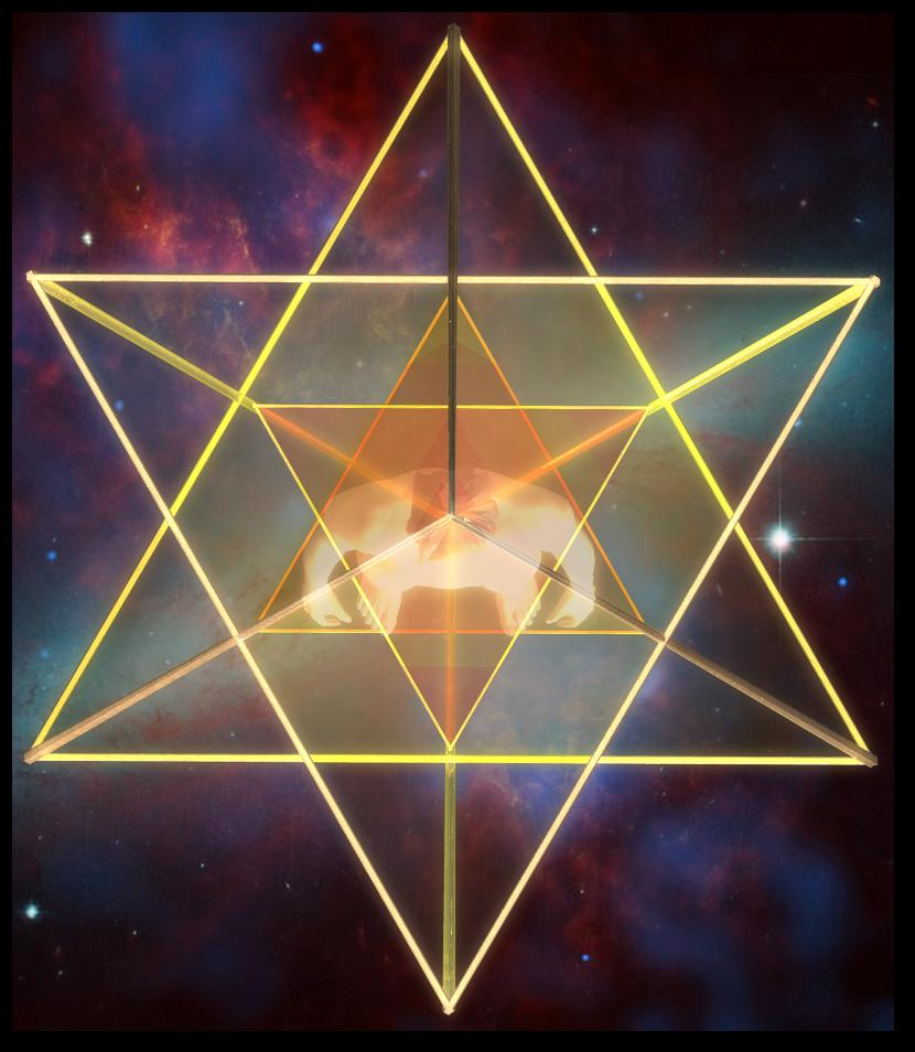 マカバ 5次元 二重星形二重正四面体-上面図 merkaba doublestar tetrahedron top