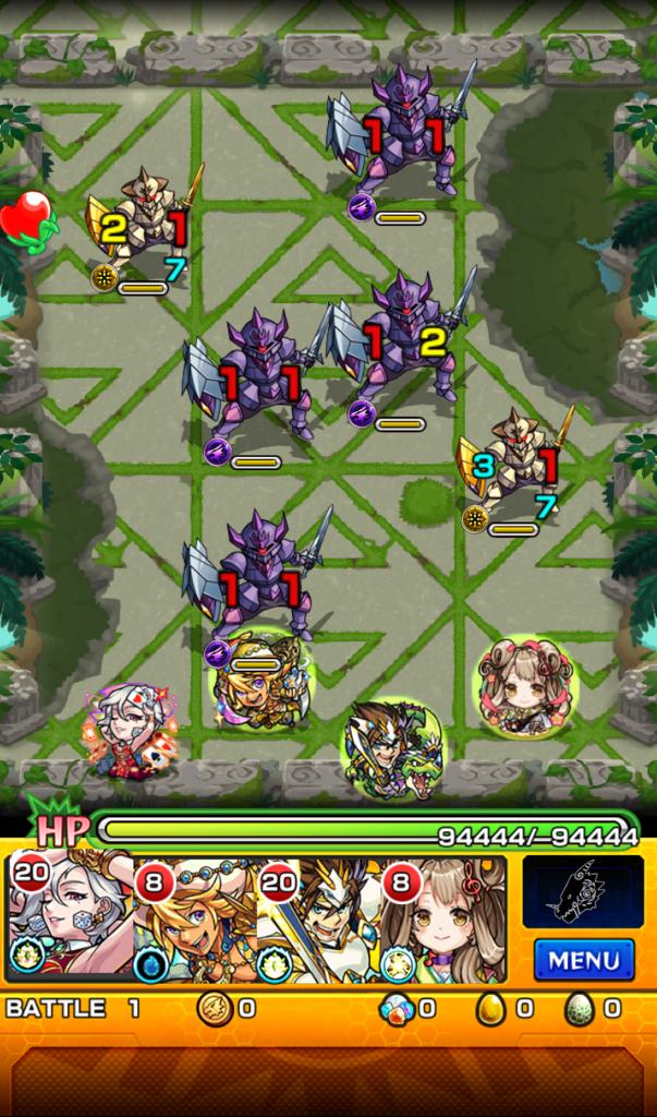 神獣の聖域 エティカ1層 ステージ1
